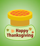 Thanksgiving day background with pie Stock Image