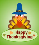 Thanksgiving  day background with turkey Royalty Free Stock Photo