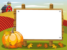 Thanksgiving day banner copyspace pumpkin in the countryside Stock Images