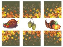 Thanksgiving day banner set Royalty Free Stock Photography