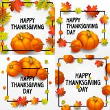 Thanksgiving day banner set, isometric style stock illustration