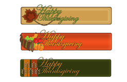 Thanksgiving Day Banners. Seasonal holiday thanksgiving banners--great for websites, cards, tags, video, ect.  Themes celebrate the harvest, fall colors, and Royalty Free Stock Photo