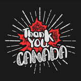 Thanksgiving day in Canada maple leaf stamp Royalty Free Stock Photos