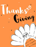 Thanksgiving day card. Brush strokes style illustration of Thanksgiving day card Stock Images