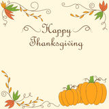 Thanksgiving day card design. Thanksgiving day greeting card design Stock Image