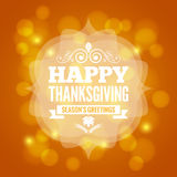 Thanksgiving day card on lights background. 10 eps Stock Photos