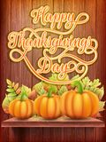 Thanksgiving day Card with Pumpkin. EPS 10 Stock Photo