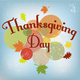 Thanksgiving Day card. Thanksgiving Day vintage background. Vector illustration card Royalty Free Stock Photos
