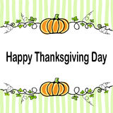 Thanksgiving day. Card with vintage elements Thanksgiving day background Royalty Free Stock Photos