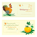 Thanksgiving day cards Royalty Free Stock Image