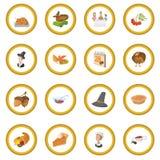 Thanksgiving day cartoon icon circle. Cartoon isolated vector illustration Royalty Free Stock Photos