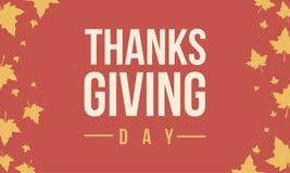 Thanksgiving day celebration background card Stock Image