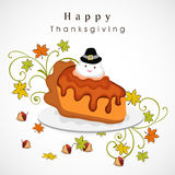 Thanksgiving day celebration with cake. Royalty Free Stock Photography