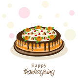 Thanksgiving day celebration with cake. Stock Photography