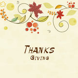 Thanksgiving day celebration card. Royalty Free Stock Photos