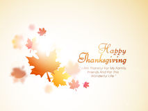 Thanksgiving Day celebration concept with maple leafs. Royalty Free Stock Image