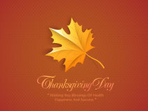 Thanksgiving Day celebration concept with meple leafs. Stock Image