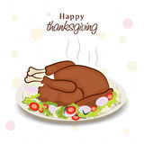 Thanksgiving Day celebration with cooked chicken. Stock Photography