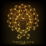 Thanksgiving day celebration with floral decorated shiny golden Royalty Free Stock Photos