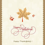 Thanksgiving day celebration poster. Stock Images
