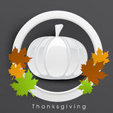 Thanksgiving Day celebration with pumkin label. Stock Photos