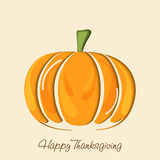 Thanksgiving Day celebration with pumpkin and stylish text. Royalty Free Stock Photography