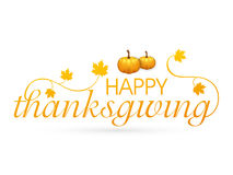 Thanksgiving Day celebration with pumpkin and stylish text. royalty free illustration