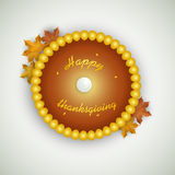 Thanksgiving day celebration with rounded pearl frame. Royalty Free Stock Photo