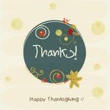 Thanksgiving day celebration with rounded stylish frame. Stock Image