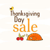 Thanksgiving day celebration with sale and food. Stock Image