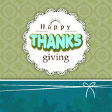 Thanksgiving day celebration with stylish card. Thanksgiving day celebration beautiful card decorated with stylish text Royalty Free Stock Images