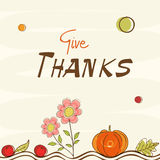 Thanksgiving day celebration with stylish card. Royalty Free Stock Images