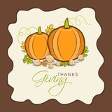 Thanksgiving Day celebration with stylish card. Royalty Free Stock Image