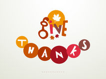 Thanksgiving Day celebration with stylish text. Stylish text of Give Thanks with maple leaf for Thanksgiving Day celebration Royalty Free Stock Photo