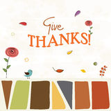 Thanksgiving day celebration with stylish text. Royalty Free Stock Photography