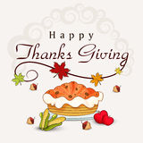 Thanksgiving day celebration with stylish text. Stock Photos