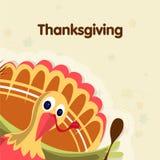 Thanksgiving Day celebration with Turkey Bird. Royalty Free Stock Photos