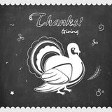 Thanksgiving Day celebration with Turkey Bird. Royalty Free Stock Images