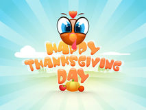 Thanksgiving Day celebration with turkey bird. Royalty Free Stock Photography