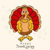 Thanksgiving Day celebration with turkey bird. Royalty Free Stock Photo