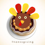 Thanksgiving Day celebration with turkey cupcakes. Stock Images