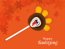 Thanksgiving Day celebration with turkey lollipop. Royalty Free Stock Images