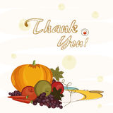Thanksgiving day celebration with veg and fruits. Royalty Free Stock Photography