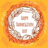 Thanksgiving day concept background, hand drawn style vector illustration