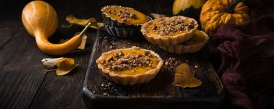 Pumpkin mini pie Stock Photography