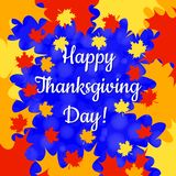 Thanksgiving Day in Canada. Maple leaf frame, name of the holiday Royalty Free Stock Photo
