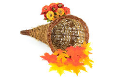 Thanksgiving Day decoration basket Royalty Free Stock Photography