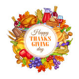 Thanksgiving Day decoration design Royalty Free Stock Photo