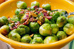 Free Thanksgiving Day Dinner Brussels Sprout Bacon Stock Images - 22180354