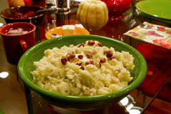 Thanksgiving Day Dinner Mashed Potatoes Hazelnuts Stock Photography